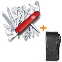 Фото Комплект Нож Victorinox SwissChamp Red 1.6795 + Чехол с фонариком Police